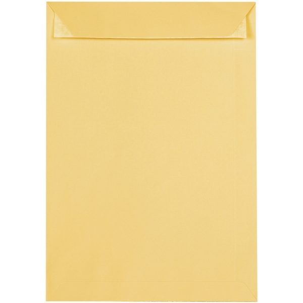 Artoz 1001 - 'Light Yellow' Envelope. 324mm x 229mm 100gsm C4 Peel/Seal Pocket Envelope.