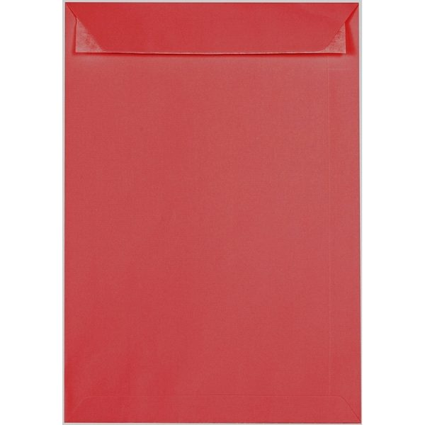 Artoz 1001 - 'Red' Envelope. 324mm x 229mm 100gsm C4 Peel/Seal Pocket Envelope.