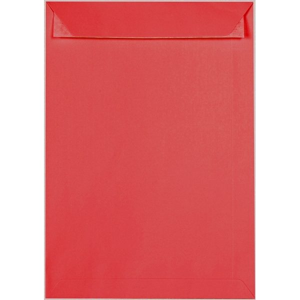 Artoz 1001 - 'Light Red' Envelope. 324mm x 229mm 100gsm C4 Peel/Seal Pocket Envelope.