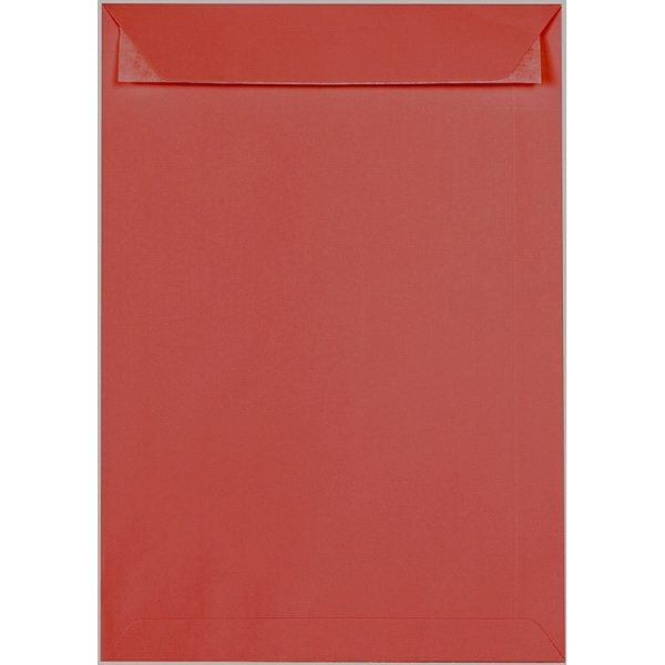 Artoz 1001 - 'Fire Red' Envelope. 324mm x 229mm 100gsm C4 Peel/Seal Pocket Envelope.