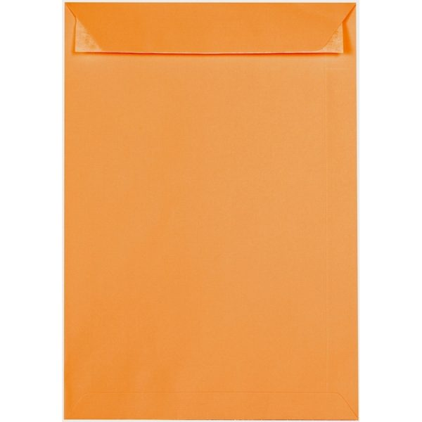 Artoz 1001 - 'Orange' Envelope. 324mm x 229mm 100gsm C4 Peel/Seal Pocket Envelope.