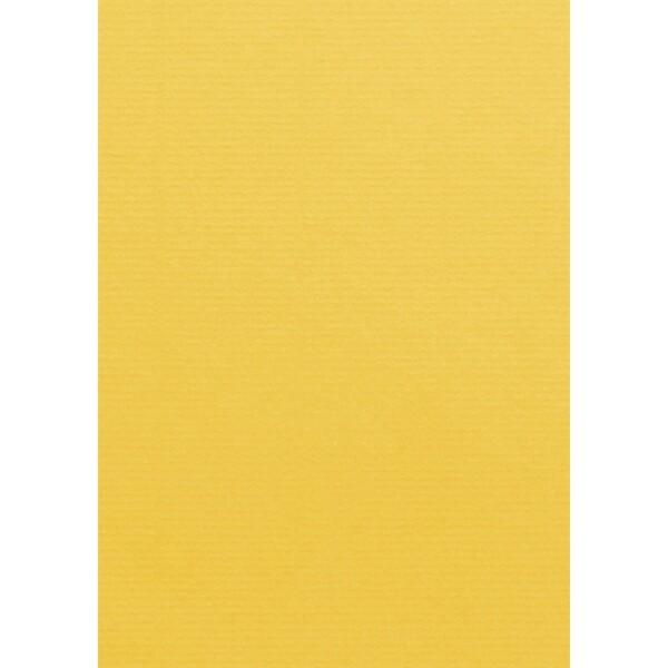 Artoz 1001 - 'Sun Yellow' Card. 210mm x 297mm 220gsm A4 Card.