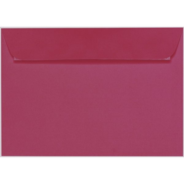 Artoz 1001 - 'Purple Red' Envelope. 324mm x 229mm 100gsm C4 Peel/Seal Wallet Envelope.