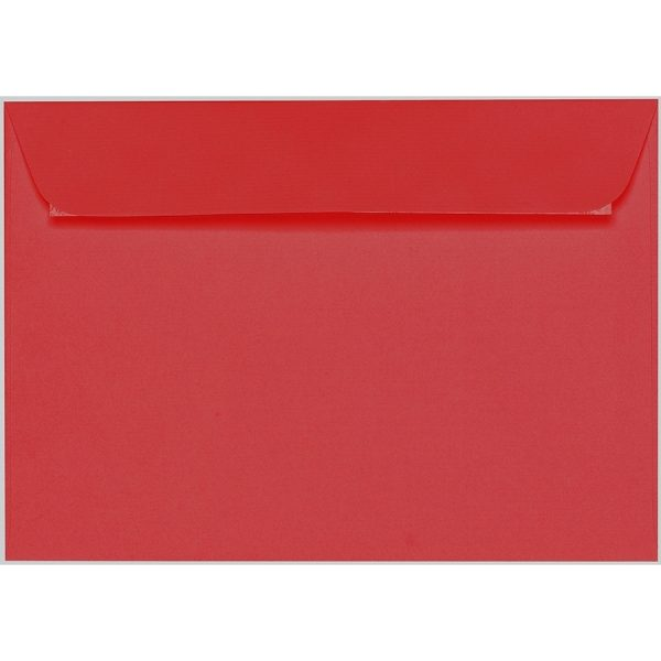Artoz 1001 - 'Red' Envelope. 324mm x 229mm 100gsm C4 Peel/Seal Wallet Envelope.
