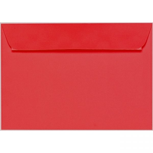 Artoz 1001 - 'Light Red' Envelope. 324mm x 229mm 100gsm C4 Peel/Seal Wallet Envelope.