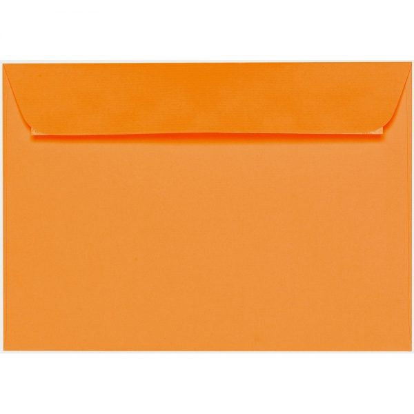 Artoz 1001 - 'Orange' Envelope. 324mm x 229mm 100gsm C4 Peel/Seal Wallet Envelope.