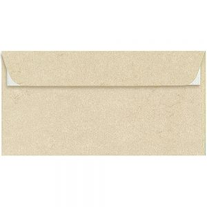Artoz Rustik - 'White' Envelope. 224mm x 114mm 110gsm DL Peel/Seal Envelope.