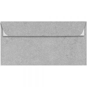 Artoz Rustik - 'Anthracite' Envelope. 224mm x 114mm 110gsm DL Peel/Seal Envelope.