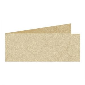 Artoz Rustik - 'White' Card. 420mm x 105mm 190gsm DL Bi-Fold (Short Edge) Card.