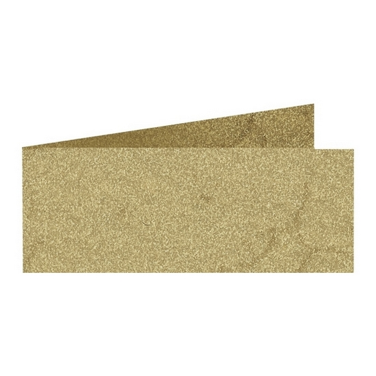Artoz Rustik - 'Cream' Card. 420mm x 105mm 190gsm DL Bi-Fold (Short Edge) Card.