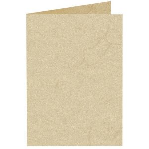 Artoz Rustik - 'White' Card. 250mm x 180mm 190gsm E6 Bi-Fold (Long Edge) Card.