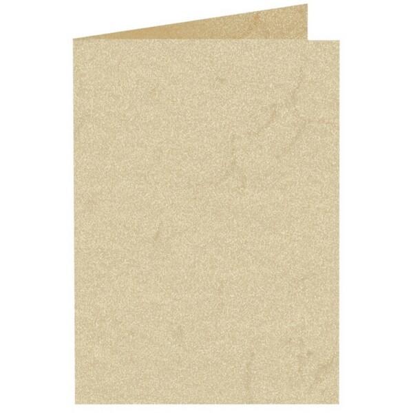 Artoz Rustik - 'White' Card. 250mm x 180mm 190gsm E6 Bi-Fold (Long Edge) Card.