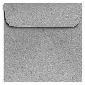 Artoz Rustik - 'Anthracite' Envelope. 160mm x 160mm 110gsm Square Peel/Seal Envelope.