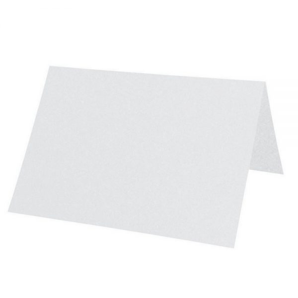 Artoz Perle - 'White' Paper. 100mm x 90mm 120gsm Place Card Paper.