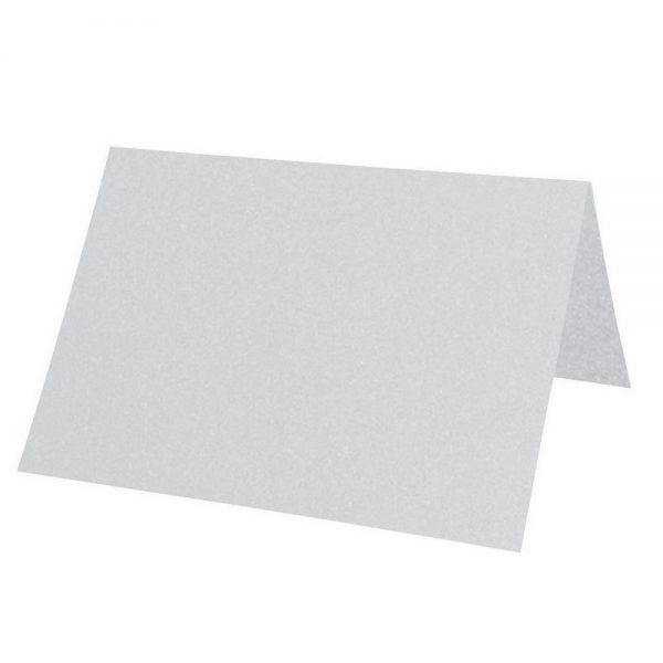 Artoz Perle - 'Silver' Paper. 100mm x 90mm 120gsm Place Card Paper.