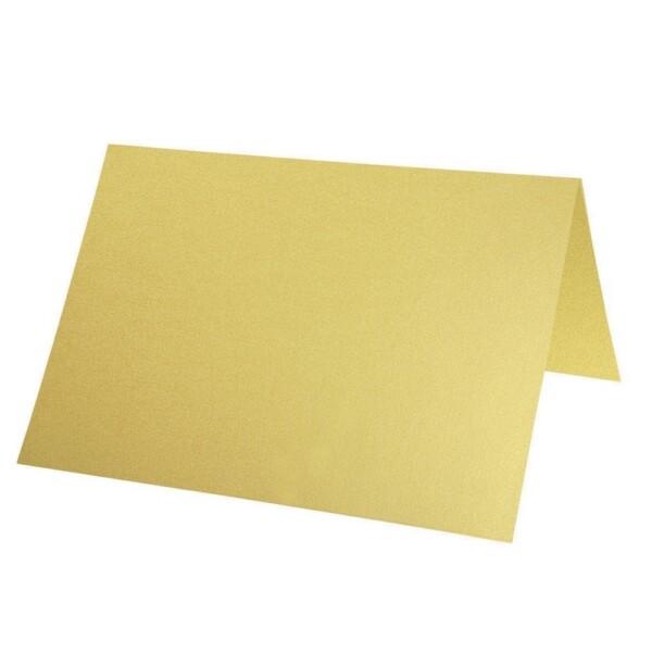 Artoz Perle - 'Gold' Card. 132mm x 103mm 250gsm A7 Place Card.