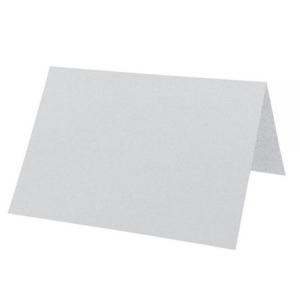 Artoz Perle - 'Silver' Card. 132mm x 103mm 250gsm A7 Place Card.