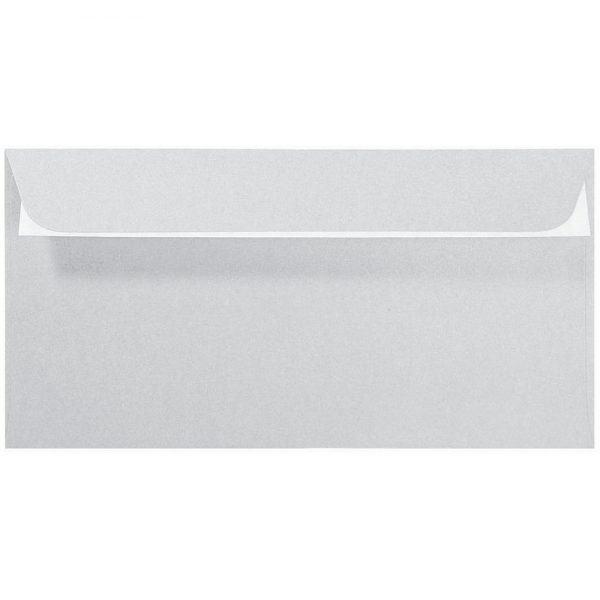Artoz Perle - 'Silver' Envelope. 224mm x 114mm 120gsm DL Peel/Seal Envelope.