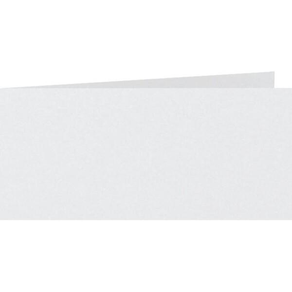 Artoz Perle - 'White' Card. 420mm x 105mm 250gsm DL Bi-Fold (Short Edge) Card.