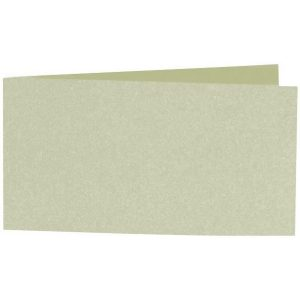 Artoz Perle - 'Pistachio' Card. 420mm x 105mm 250gsm DL Bi-Fold (Short Edge) Card.