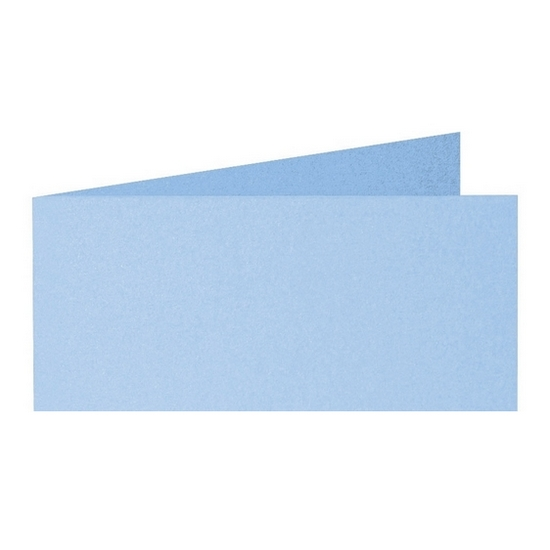 Artoz Perle - 'Water Blue' Card. 420mm x 105mm 250gsm DL Bi-Fold (Short Edge) Card.