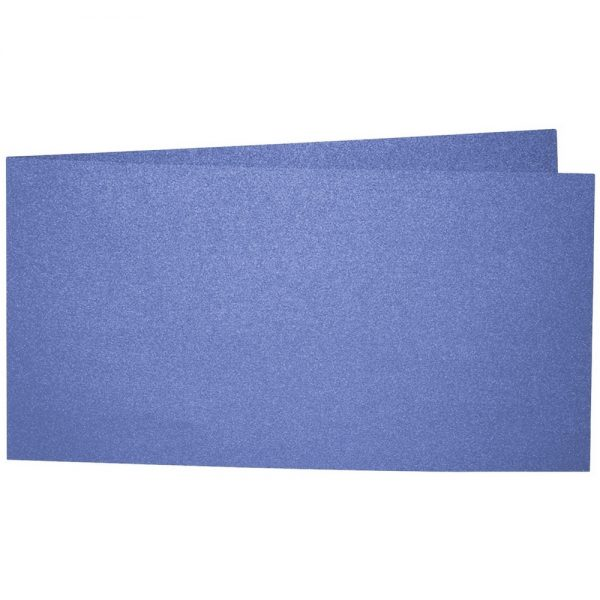 Artoz Perle - 'Royal Blue' Card. 420mm x 105mm 250gsm DL Bi-Fold (Short Edge) Card.