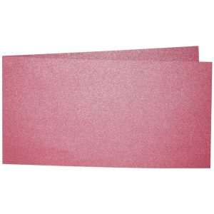 Artoz Perle - 'Red' Card. 420mm x 105mm 250gsm DL Bi-Fold (Short Edge) Card.