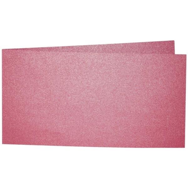 Artoz Perle - 'Red' Card. 420mm x 105mm 250gsm DL Bi-Fold (Short Edge) Card.