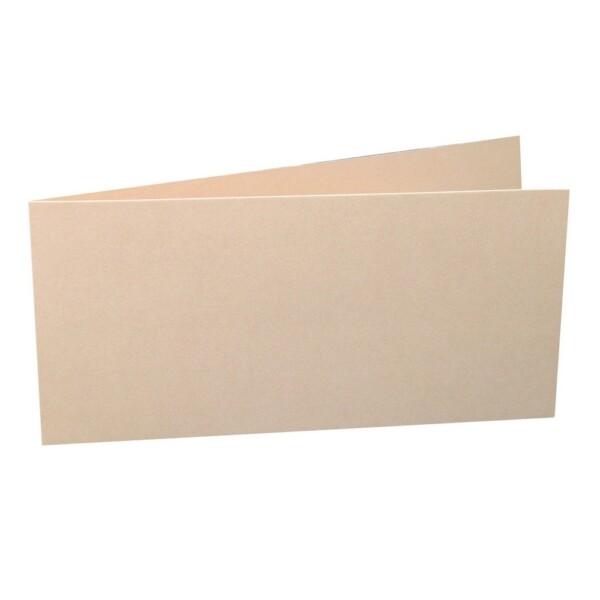 Artoz Perle - 'Peach' Card. 420mm x 105mm 250gsm DL Bi-Fold (Short Edge) Card.