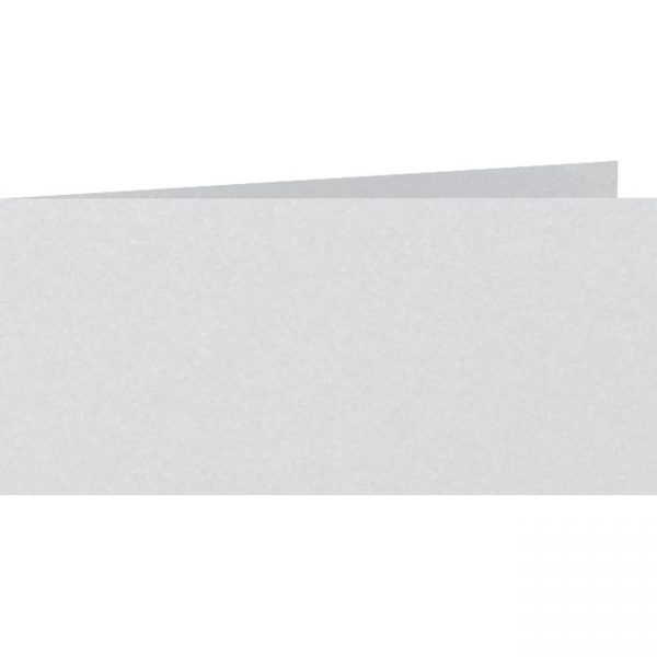 Artoz Perle - 'Silver' Card. 420mm x 105mm 250gsm DL Bi-Fold (Short Edge) Card.
