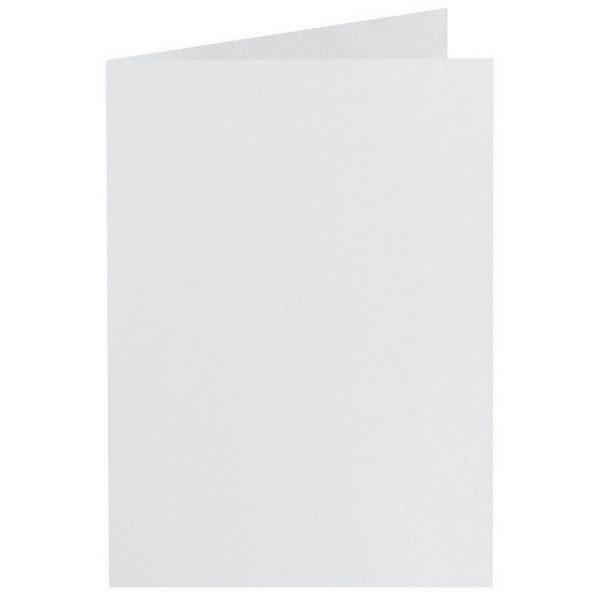 Artoz Perle - 'White' Card. 210mm x 148mm 250gsm A6 Folded (Long Edge) Card.