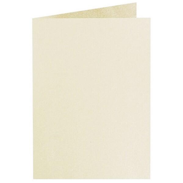 Artoz Perle - 'Ivory' Card. 210mm x 148mm 250gsm A6 Folded (Long Edge) Card.