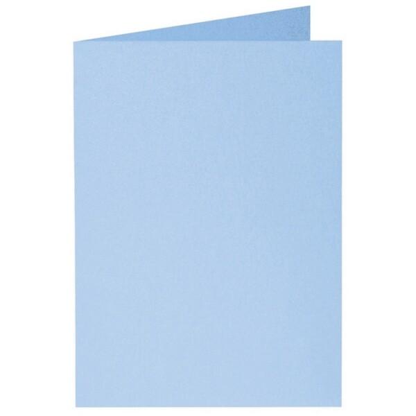 Artoz Perle - 'Water Blue' Card. 210mm x 148mm 250gsm A6 Folded (Long Edge) Card.