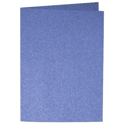 Artoz Perle - 'Royal Blue' Card. 210mm x 148mm 250gsm A6 Folded (Long Edge) Card.