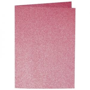 Artoz Perle - 'Red' Card. 210mm x 148mm 250gsm A6 Folded (Long Edge) Card.