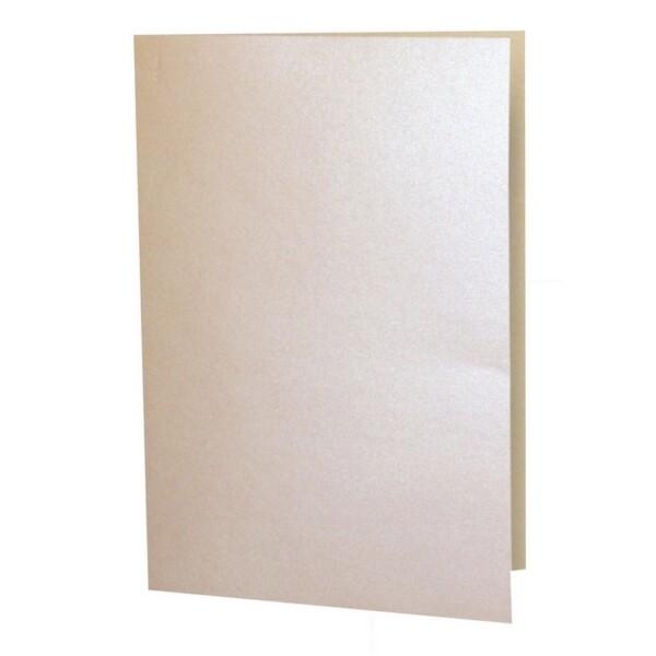 Artoz Perle - 'Peach' Card. 210mm x 148mm 250gsm A6 Folded (Long Edge) Card.