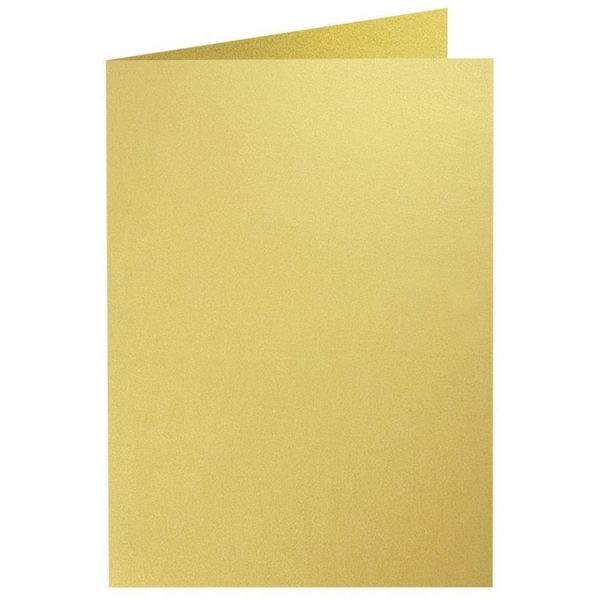 Artoz Perle - 'Gold' Card. 210mm x 148mm 250gsm A6 Folded (Long Edge) Card.