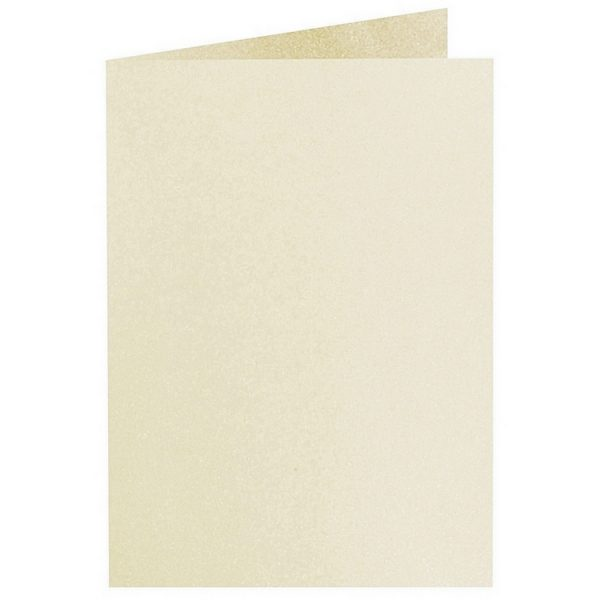 Artoz Perle - 'Ivory' Card. 240mm x 169mm 250gsm B6 Bi-Fold (Long Edge) Card.
