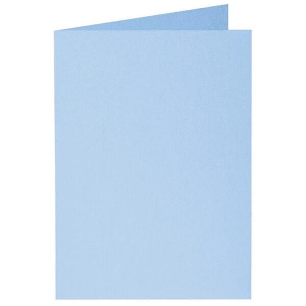 Artoz Perle - 'Water Blue' Card. 240mm x 169mm 250gsm B6 Bi-Fold (Long Edge) Card.