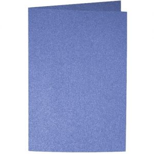 Artoz Perle - 'Royal Blue' Card. 240mm x 169mm 250gsm B6 Bi-Fold (Long Edge) Card.