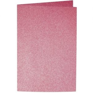 Artoz Perle - 'Red' Card. 240mm x 169mm 250gsm B6 Bi-Fold (Long Edge) Card.