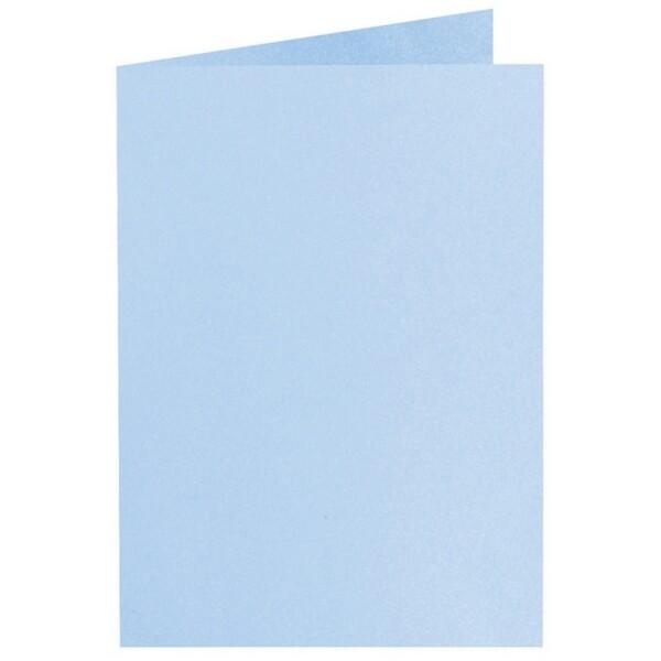 Artoz Perle - 'Water Blue' Card. 250mm x 180mm 250gsm E6 Bi-Fold (Long Edge) Card.