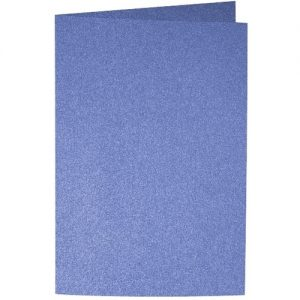 Artoz Perle - 'Royal Blue' Card. 250mm x 180mm 250gsm E6 Bi-Fold (Long Edge) Card.