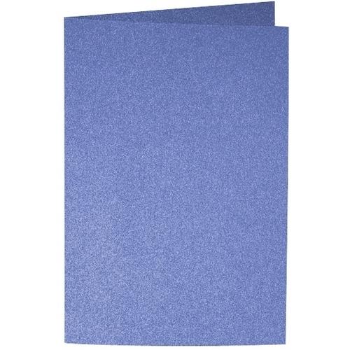 Artoz Perle - 'Royal Blue' Card. 250mm x 180mm 250gsm E6 Bi-Fold (Long Edge) Card.