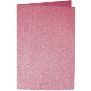 Artoz Perle - 'Red' Card. 250mm x 180mm 250gsm E6 Bi-Fold (Long Edge) Card.