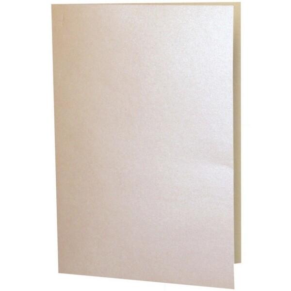 Artoz Perle - 'Peach' Card. 250mm x 180mm 250gsm E6 Bi-Fold (Long Edge) Card.