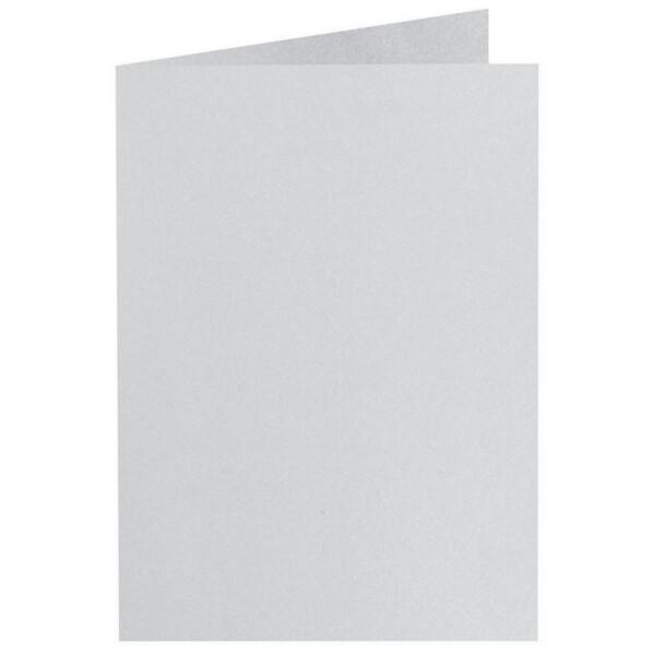 Artoz Perle - 'Silver' Card. 250mm x 180mm 250gsm E6 Bi-Fold (Long Edge) Card.