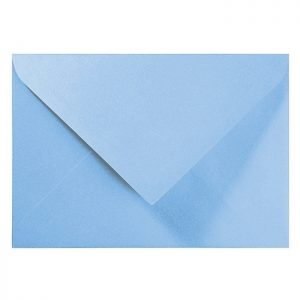 Artoz Perle - 'Water Blue' Envelope. 191mm x 135mm 120gsm E6 Gummed Envelope.