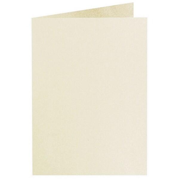 Artoz Perle - 'Ivory' Card. 297mm x 210mm 250gsm A5 Folded (Long Edge) Card.