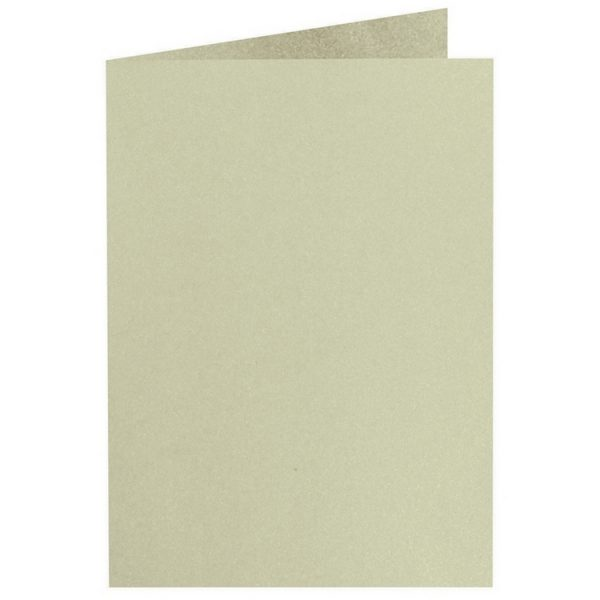 Artoz Perle - 'Pistachio' Card. 297mm x 210mm 250gsm A5 Folded (Long Edge) Card.